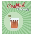 cocktail alcoholic olive green background vector image