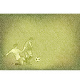 Football texture grain green vector image
