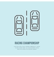 Racing sport car line icon Speed vector image