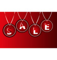 Sale tags background vector image