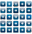 Square blue arrow icons vector image