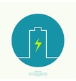 The battery icon vector image