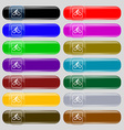 Cyclist icon sign Set from fourteen multi-colored vector image