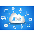 Cloud Computing concept background with a lot of vector image