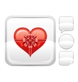 Happy Valentines day romance love heart Gift box