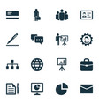 business icons set collection of group earth vector image