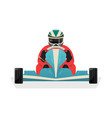 Go kart racer isolated icon vector image