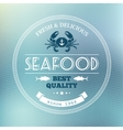 Seafood poster vector image