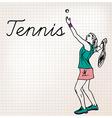 Tennis players sketch vector image vector image