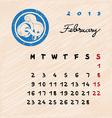 february 2015 zodiac vector image vector image