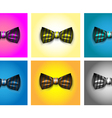 Striped bow tie vector image