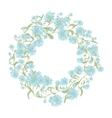 Spring floral frame for your design vector image vector image