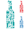 alcohol drinks vector image