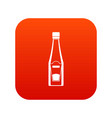 bottle of ketchup icon digital red vector image