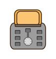 cartoon gray toaster breakfast appliance house vector image