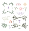 Collection of hand drawn Doodle design elements vector image