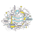 creative of cloud storage with data server a vector image