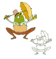 Cute cartoon frog vector image