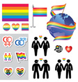 gay map icons vector image