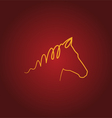 Horse over red vector image