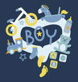 Newborn boy toys vector image