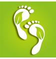 paper foot prints vector image