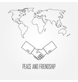 Peace and friendship concept icon thin line for we vector image