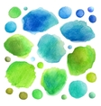 Watercolor stains vector image