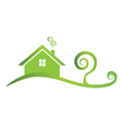 Green house icon logo vector image vector image