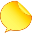 Yellow paper speech bubble sticker vector image vector image