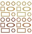 Wooden frames set vector image