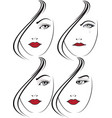 glamour girl portrait vector image vector image