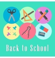 back to school conception chancellery set vector image