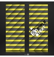 Black And Yellow Striped Background vector image