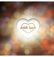 Contour heart and bokeh background vector image