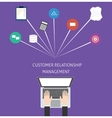 Customer relationship management crm vector image