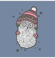 Cute doodle owl in the hat vector image