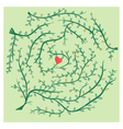 Finding path of love maze puzzle vector image