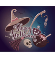 halloween with text happy halloween pumpkin vector image