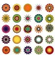 mandalas Colored mandala set vector image