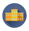 school building icon vector image