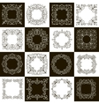 set of calligraphic vintage frames vector image