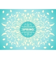 Spring floral ornament vector image