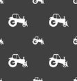 Tractor icon sign Seamless pattern on a gray vector image