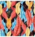 Graphic pattern of autumn leaves vector image vector image