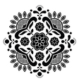 Norwegian black folk art Bunad pattern - Rosemalin vector image