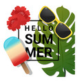 hello summer background with summer element vector image