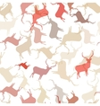 Retro Christmas pattern Seamless EPS10 vector image
