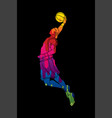 basketball player dunking graphic vector image vector image