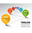 Fresh Infographic Timeline Template with pointers vector image vector image